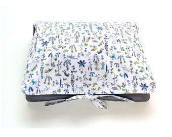 """Travel Lingerie Bag, Travel Accessory Bag, Liberty of London, Cotton, Tana Lawn & Poplin, """"Theo Blue C"""",  Gift for her"""
