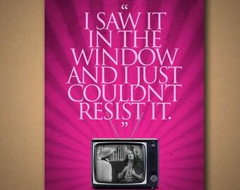 "The Carol Burnett Show ""Saw It In The Window"" Starlett O'Hara Quote Poster"