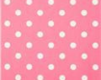 Handmade Curtain Valance, 50W x 15L, in Baby Pink/White Polka Dot Print,Home Decor,Nursery