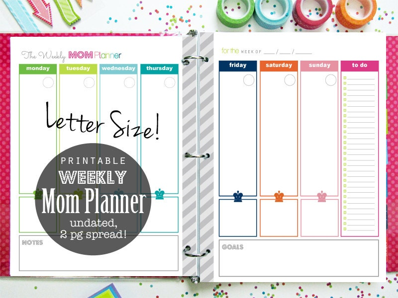 It is a photo of Stupendous Mom Planner Printable