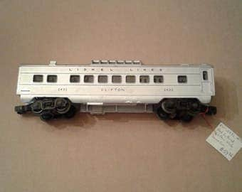 Lionel Trains Postwar 2432 Clifton Streamlined Vista Dome Passenger Car