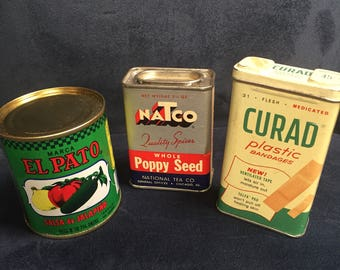 Lot of three vintage tins