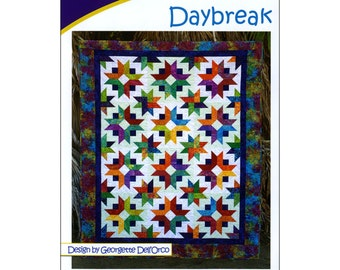 "Pattern ""Daybreak"" Quilt Pattern by Cozy Quilt Designs (1094) Paper Pattern Instructions"