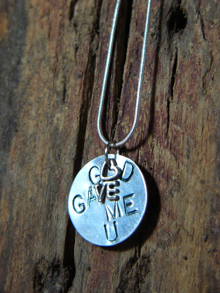 GOD Gave Me YOU CHARM AND NECKLACE SET
