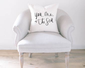 Throw Pillow - You Me and The Sea