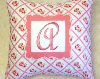 Custom Monogrammed Pillow - 11x11
