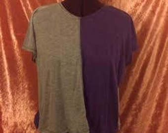 Gretchen Crop Top-Purple/Gray
