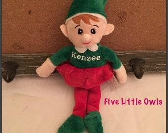 Personalized Christmas Elf, santas helper elf, stuffed elf, doll elf, girl elf