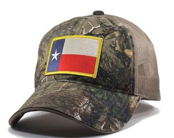 Homeland Tees Texas Flag Hat - Realtree Camo Trucker