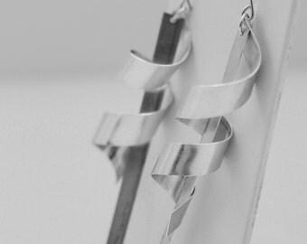 Sterling Swizzlestick Earrings