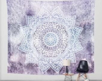 DEEP PURPLE MANDALA Bohemian Wall Tapestry