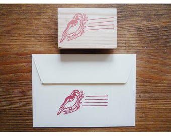 hand carved stamp for letters or etiquette