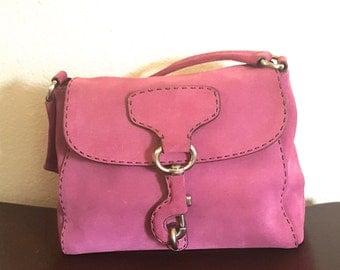 Vintage Pink Prada Leather Handbag