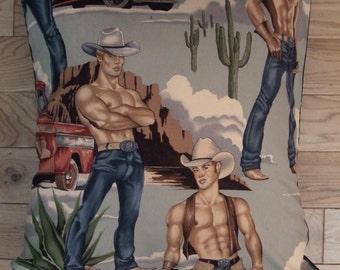 Gay Cowboy cushion cover