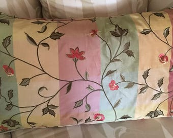 16x26 in Embroidered Plaid Silk Pillow cover