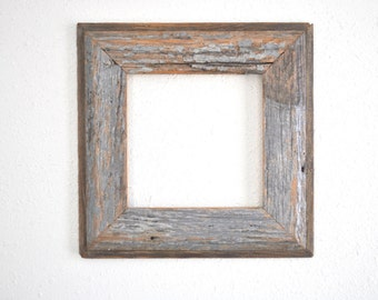 8 x 8 Rustic Weathered Gray Frame-Old Home Siding, Reclaimed and Re-purposed, Country One of a Kind