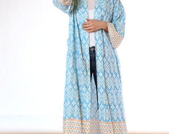 Pacific Islands Sky Long Kimono
