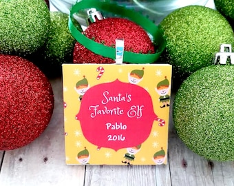 Personalized Christmas Ornament - Name Ornament - Kids Christmas Ornament - Baby Christmas Ornament - Elf