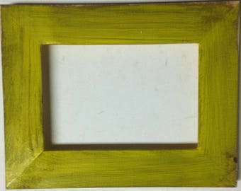 "1-1/2"" Golden Yellow Distressed Picture Frame"