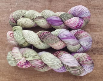 Lilac Bloom sport sock yarn - SW Merino/Nylon  (328 yards) sport weight