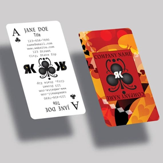Custom creative business card playing card request a custom order and have something made just for you reheart