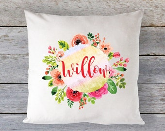 Flower Pillow, Christmas Pillow, Travel Pillow, Kids Christmas Pillow, Personalized Pillow, Baby Pillow, Girls Pillow, Boys Pillow, RyElle