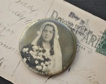 1920s Photo Confirmation Portrait Mirror