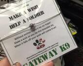 Wish Bracelet, Fundraiser, Gateway K9, Service Dog Bracelet, Gemstone, Anklet