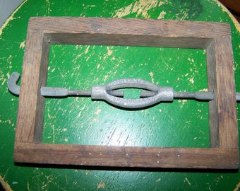 One Vintage Wood Short Bed Rail Fastener  or Clamp Device for Store Display  Deboer Mfg Co.