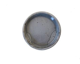 Vintage Gray Graniteware Enamel Pie Baking Pan