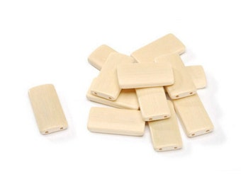 Signed Sealed and Remembered Bamboo Tiles - Blonde (1.625in. X .875in. X .25in., 12 Pieces/Pack (darssr527)