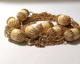 Vintage Gold Tone Signed Park Lane Necklace