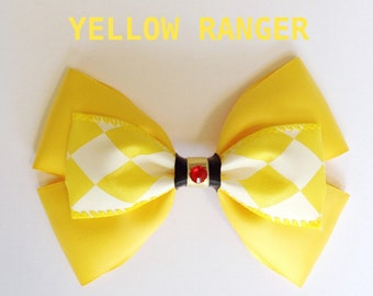 yellow ranger hair bow