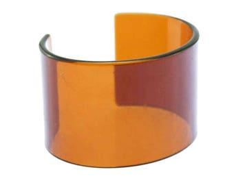 Orange Lucite Cuff Bracelet, Wide Cuff Bracelet, Wide Orange Cuff Bracelet, Wide Orange Bracelet