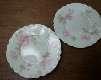 LIMOGES CHINA. Vintage Dishes. Set of Two Small Vintage LIMOGES China. Dishes. Vintage French Limoges China Dishes.