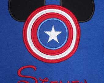 Captain America Mouse Shirt for Infant, Toddler, Youth, and Adult