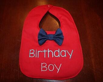 Birthday Boy Bib with Bowtie