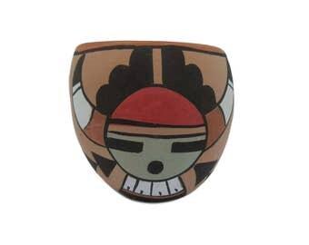 A vintage Native American Jemez Pueblo pottery jar, signed Shendo