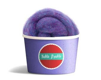 Violet Fluff Basket Filler Newborn Baby Photography prop Wool Basket Stuffer RTS UK seller