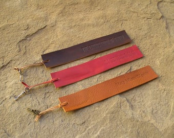 leather bookmarks with key personalized leather bookmarks handmade bookmarks