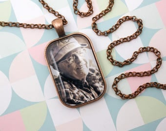 Personalized Photo Necklace - Photo Jewelry - Antique Copper Necklace - Custom Photo Pendant - Picture Necklace - 20 x 30 mm Rectangle