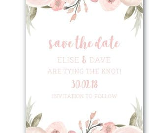 Printable Save the Date | Save the Date | Wedding | Invitation Suite | Blushing Bride Suite