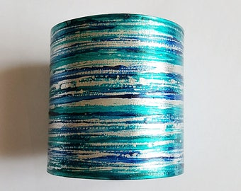 Long turquoise blue cuff