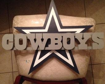Dallas Cowboy Wooden Logo