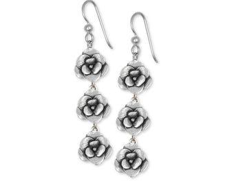 Magnolia Earrings Jewelry Sterling Silver Handmade Flower Earrings MG5-3E