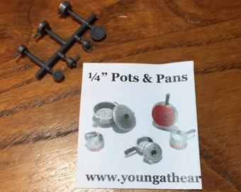 1/4 Scale Cookware Kit by Debbie Young with Pots and Pans