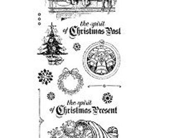 Graphic 45 CHRISTMAS CAROL 2 Cling Stamps IC0342S 1.cc72