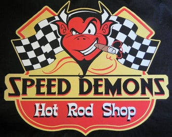 Speed Demon on black T-shirt