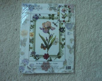 Candamar Designs   Iris Botanical Picture    51201    Counted Cross Stitch