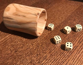 Dice Cup- wood